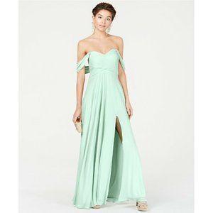 Sequin Hearts 9 Sage Green Evening Dress NWT CJ58
